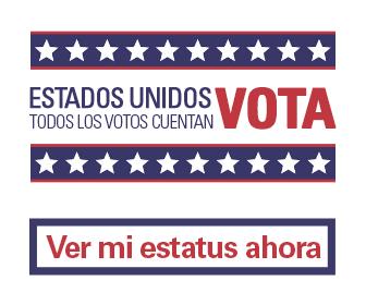 Llame para conocer el estatus de registro como votante